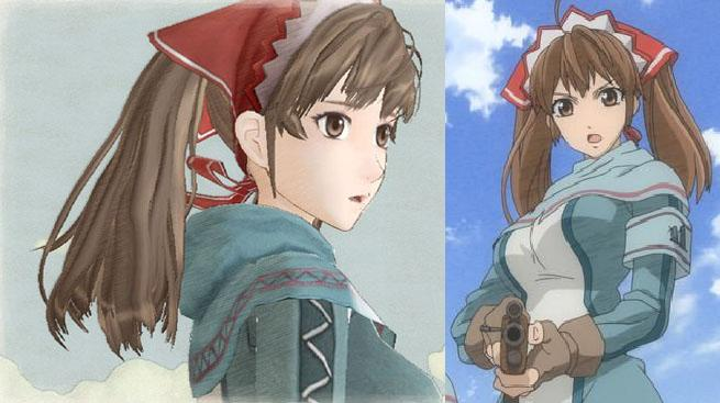 Alicia Melchiott (PS3 version left / Anime right)