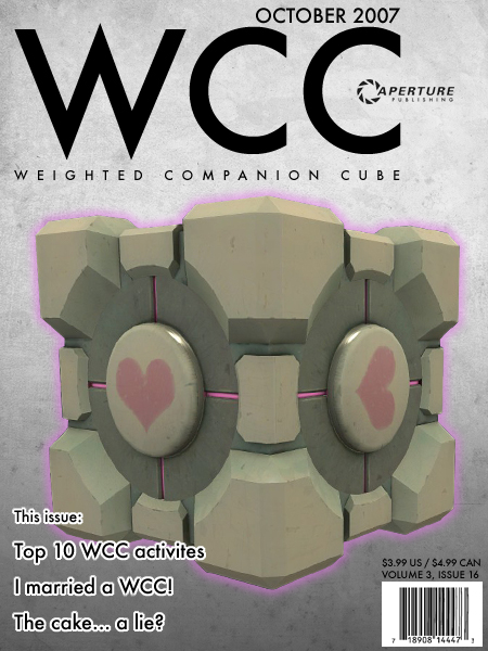 Weighted Companion Cube Magizine