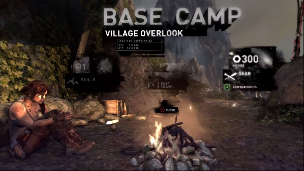 The base camps in Tomb Raider serve as the hotspots for upgrading Lara's skills.