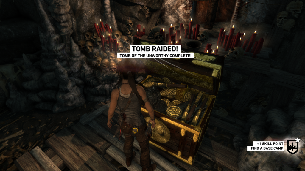 Raiding tombs in Tomb Raider. That's unheard of.