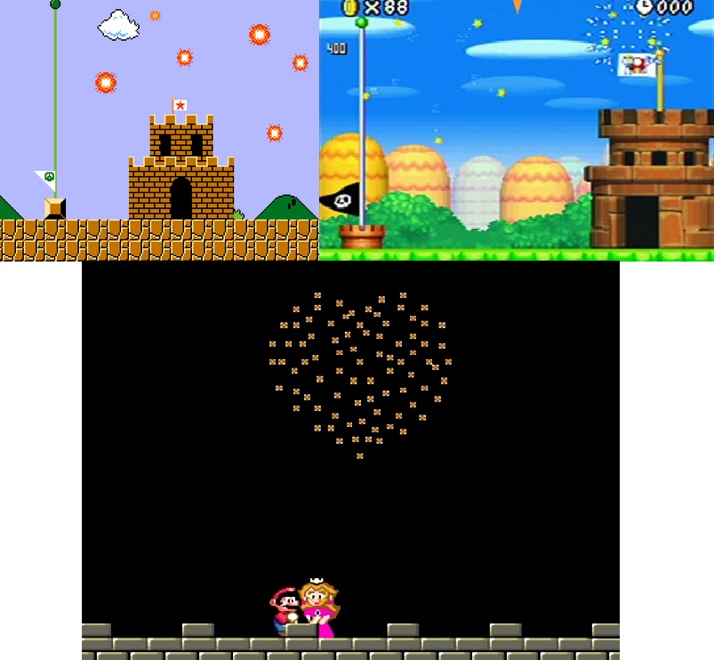 Mario Firework collage