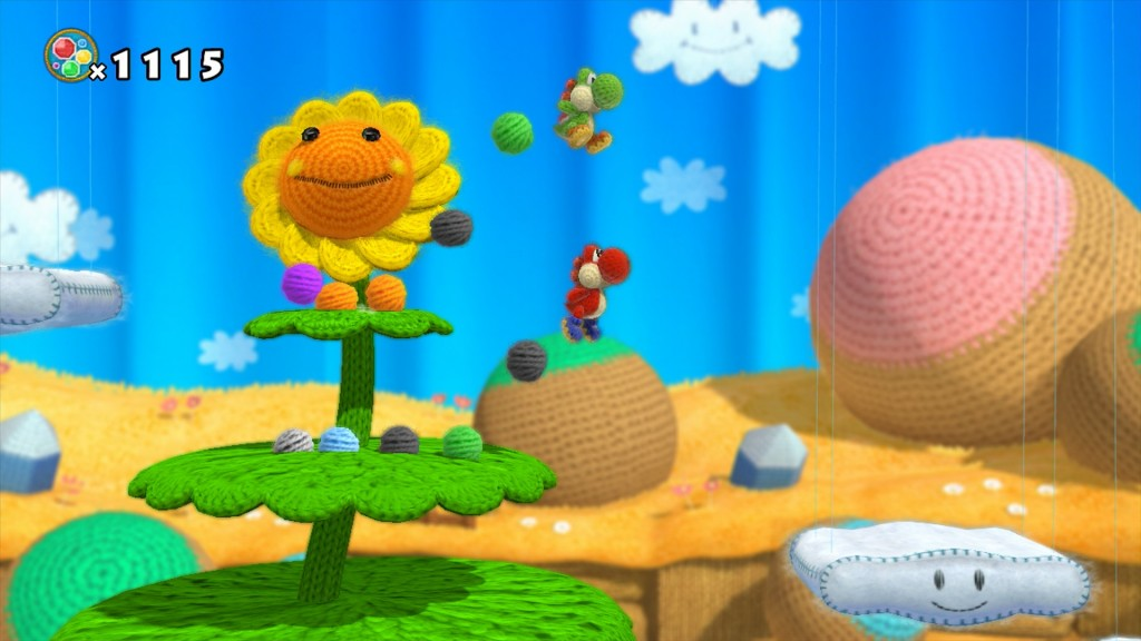 Yoshi's Wooly World's wooly flower